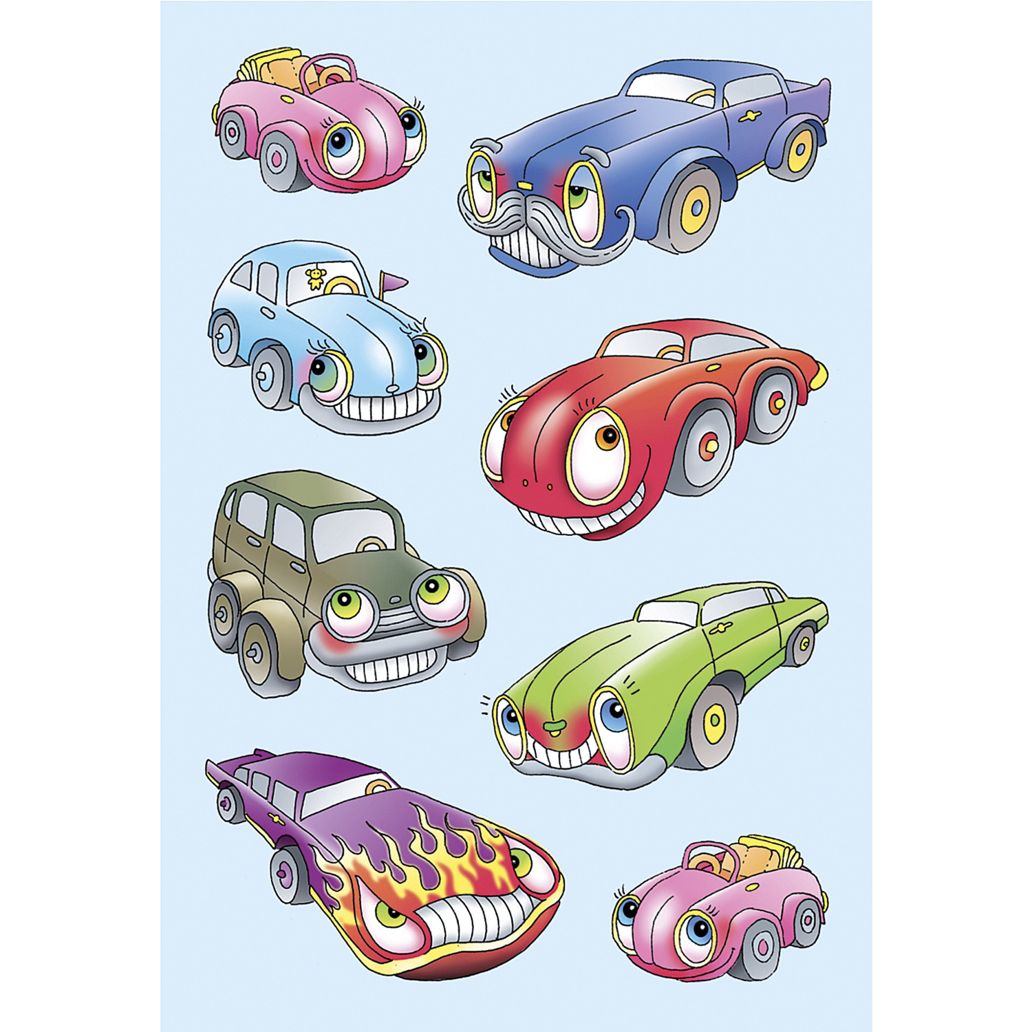 Stickers cars embossed